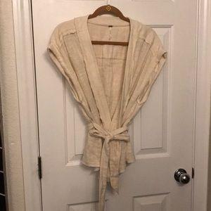 Free People wrap blouse